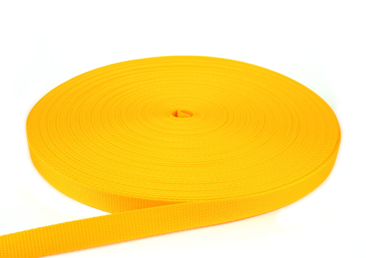 Gurtband 20 mm - PP - gelb - 50-m-Rolle