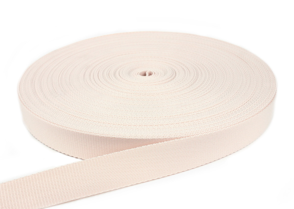 Gurtband 20 mm - PP - creme - 50-m-Rolle