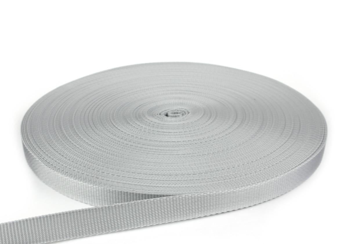 Gurtband 20 mm - PP - hellgrau - 50-m-Rolle