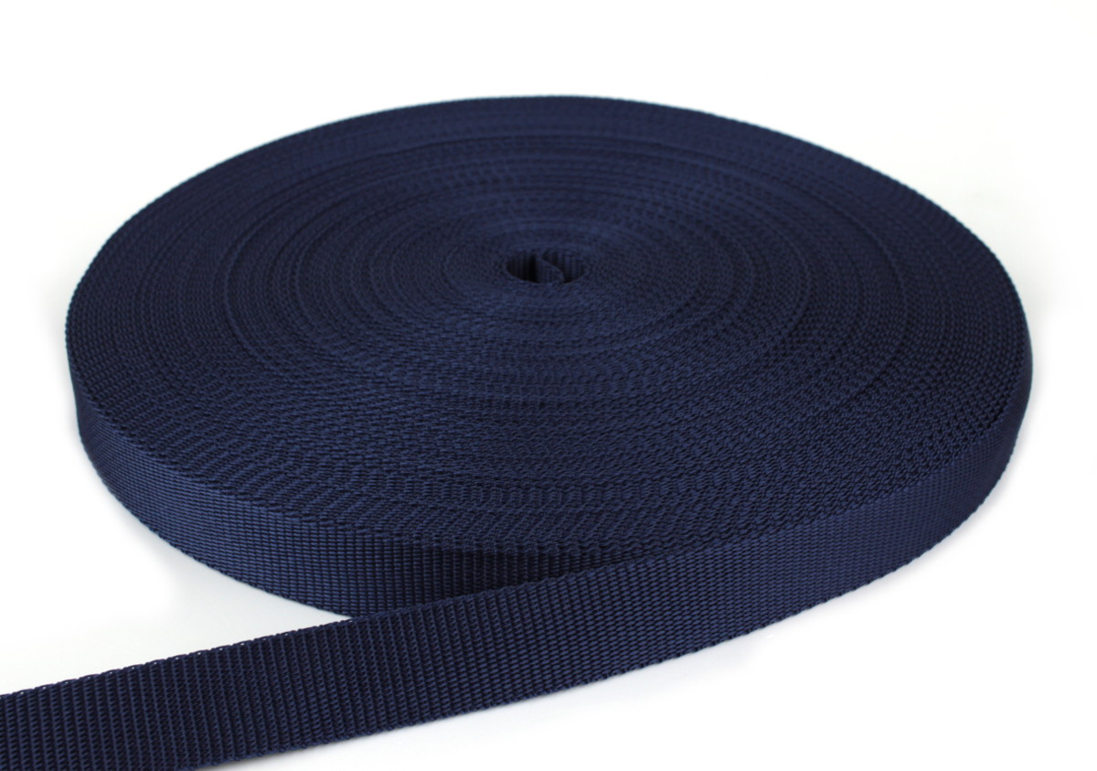 Gurtband 25 mm - PP - dunkelblau - 50-m-Rolle