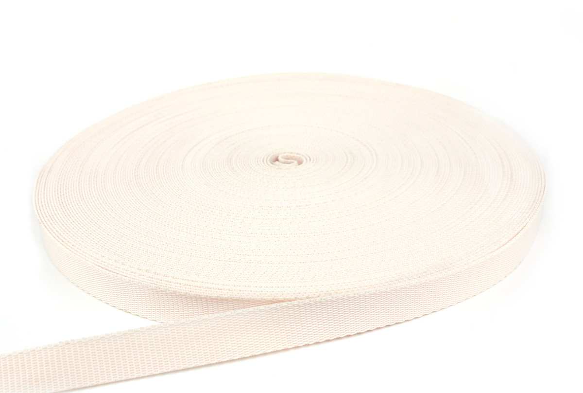 Gurtband 30 mm - PP - creme - 50-m-Rolle
