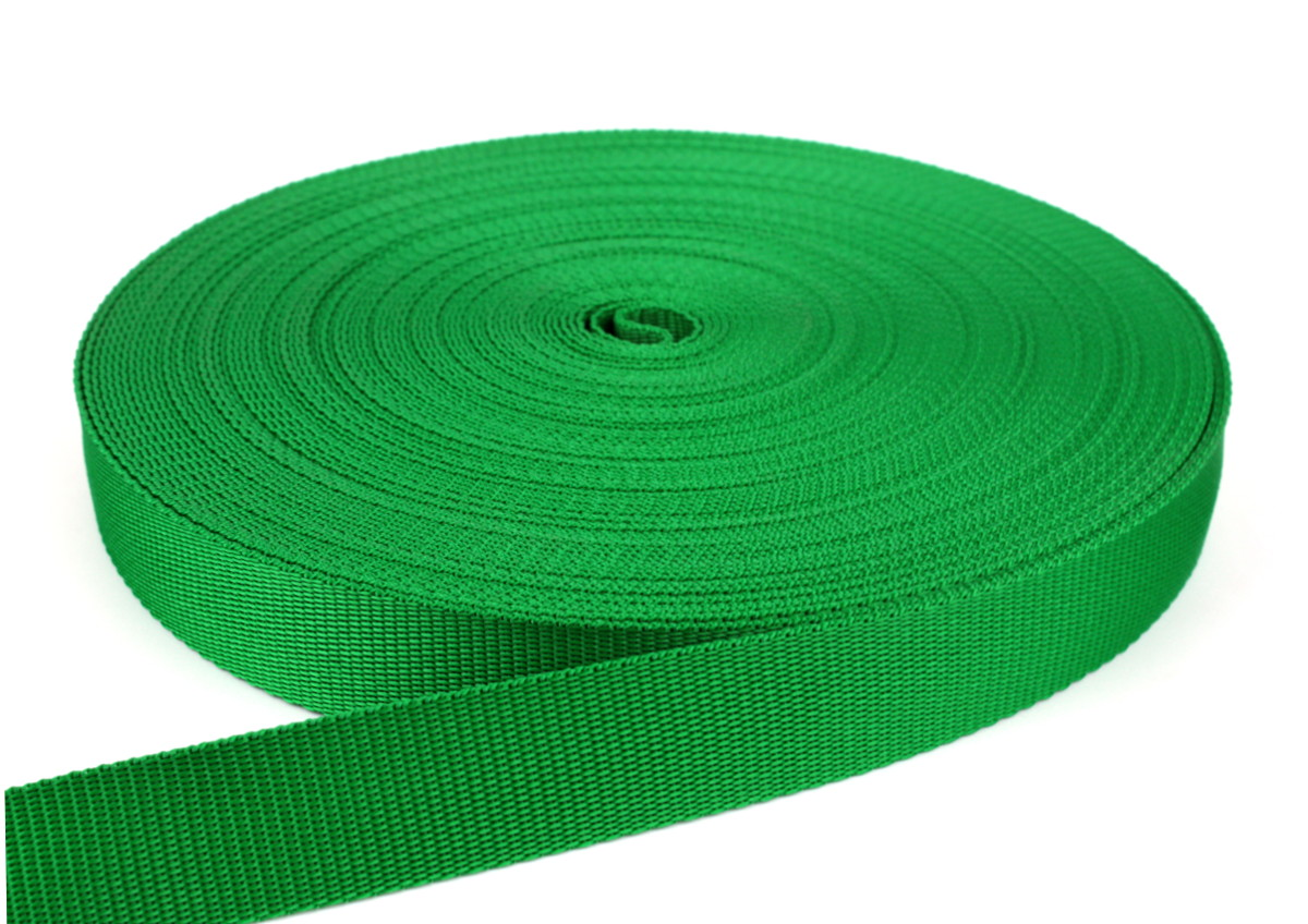 Gurtband 30 mm - PP - grasgrün - 50-m-Rolle