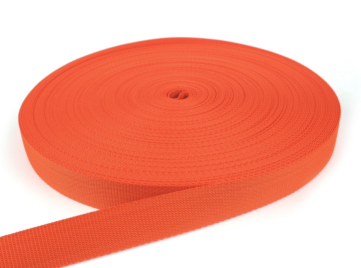Gurtband 30 mm - PP - orange - 50-m-Rolle