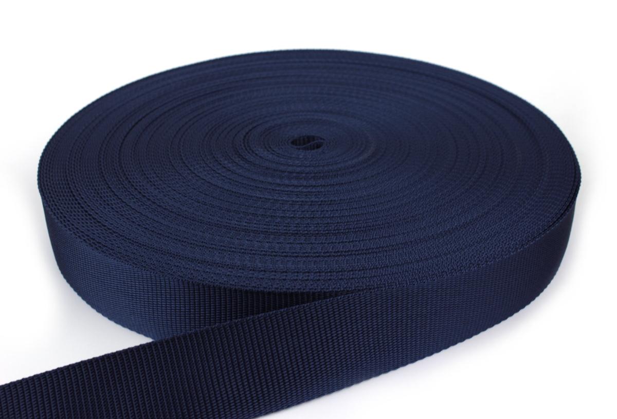 Gurtband 40 mm - PP - dunkelblau - 50-m-Rolle