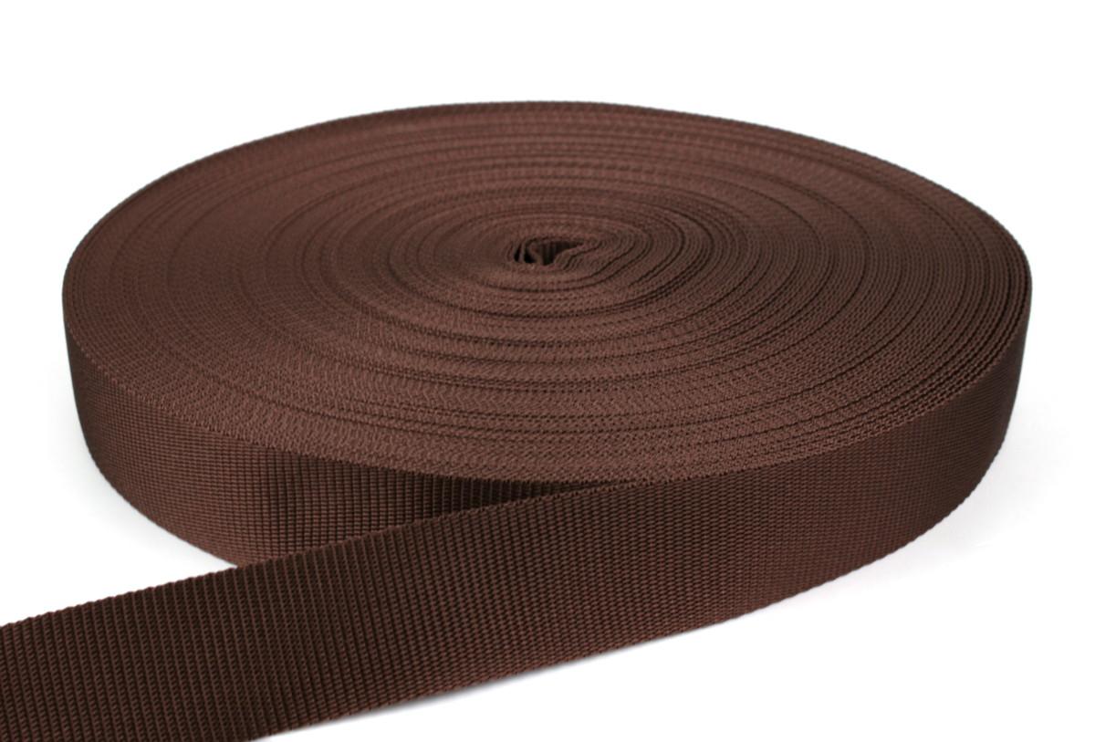 Gurtband 40 mm - PP - braun - 50-m-Rolle