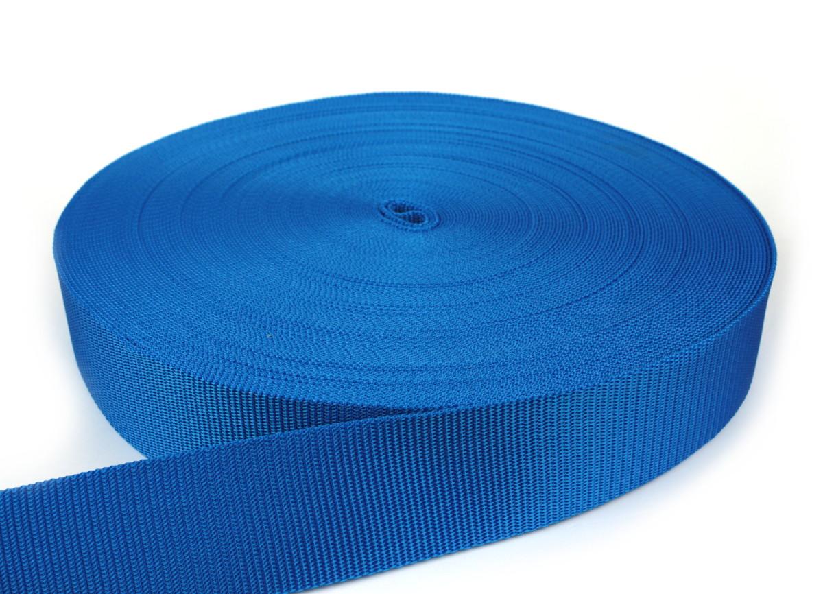 Gurtband 50 mm - PP - blau - 50-m-Rolle