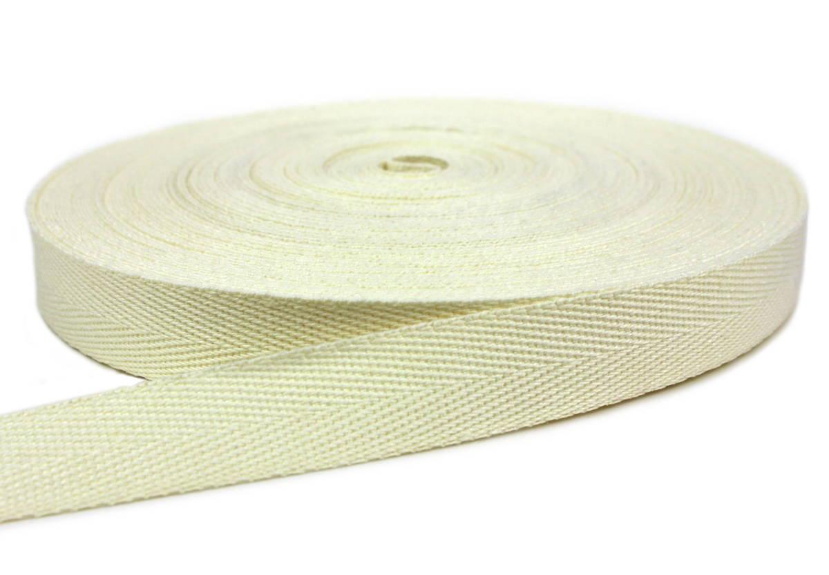 Flachsgurt 100 % thermisch verstreckt - 29 mm - gebleicht 50 m