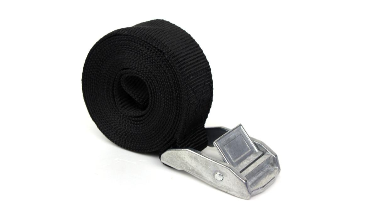 Spanngurt - 2,0 m - Farbe schwarz mit Klemmschloss - PES