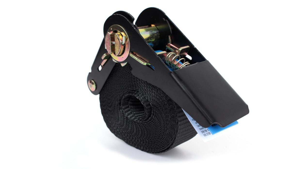Zurrgurt 8,0 m - schwarz mit Ratsche - EN 12915-2 - PES