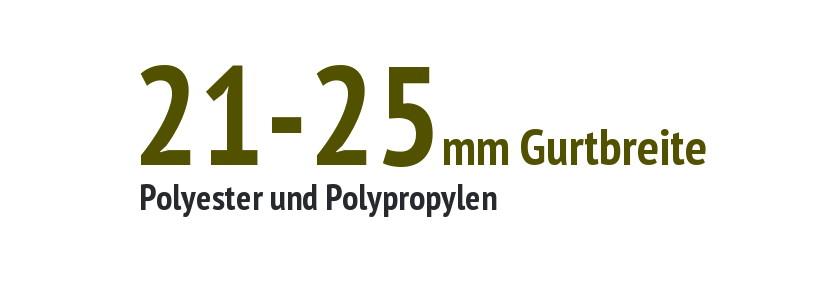 21 bis 25 mm Gurtbreite