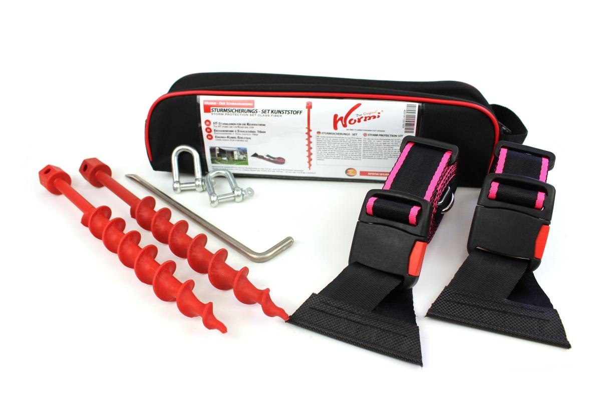 HT-Sturmleine Keder - Kanten pink- Wurmi Set Kunststoff