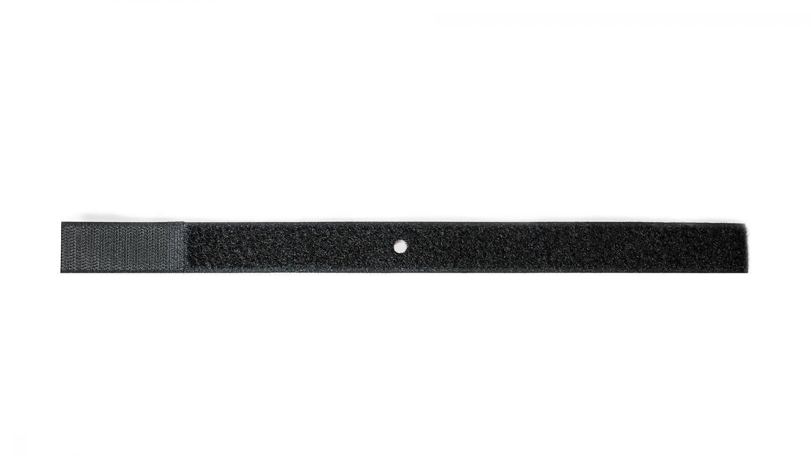 Klettband mit Loch schwarz 335x25mm